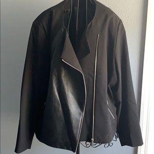 Calvin Klein women's jacket black 24w faux leather